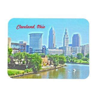 Imán de la opinión de Cleveland el río Ohio