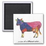 Imán de la vaca del color