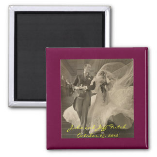 imán de la vintage-boda-foto