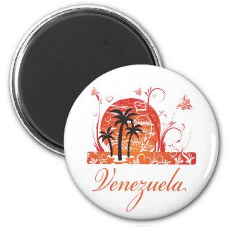 Imán de las palmeras del verano de Venezuela