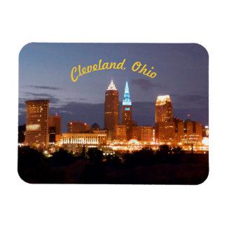 Imán de los azules de Cleveland Ohio (curvados)
