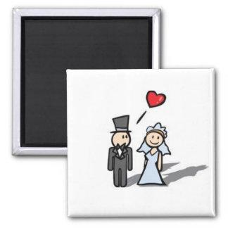 Imán de los pares del boda