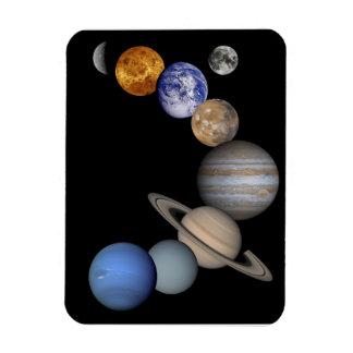 Imán de los planetas de la Sistema Solar