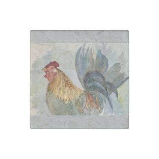 Imán de mármol de la impresión del gallo