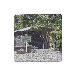Imán De Piedra Imán de mármol preparado del puente cubierto de