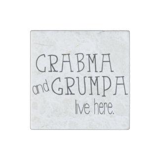Imán de mármol vivo de Crabma y de Grumpa aquí