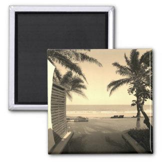 Imán de Oceanview del vintage