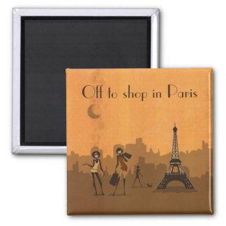 Imán de para hacer compras en París
