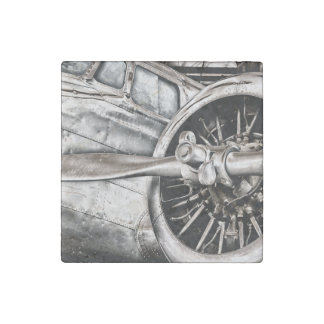 Imán De Piedra Aeroplano del vintage