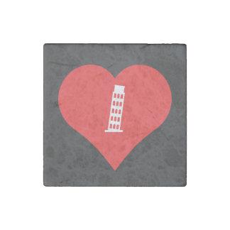 Imán De Piedra Amo la torre inclinada del icono de Pisa