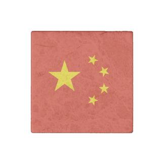 Imán De Piedra Bandera china patriótica