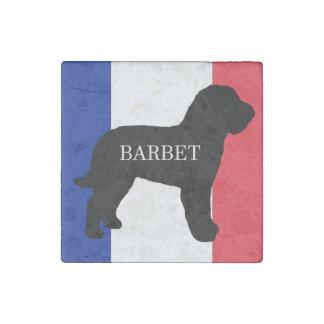 Imán De Piedra bandera conocida de Francia del silo del perro de