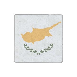 Imán De Piedra Bandera patriótica de Chipre