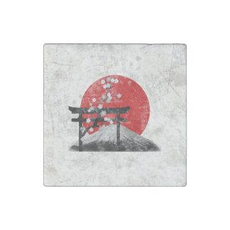 Imán De Piedra Bandera y símbolos de Japón ID153