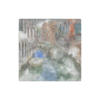 Imán De Piedra Barcos de Venecia Italia en el canal