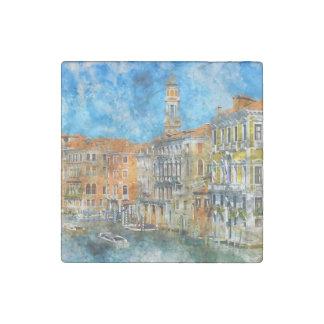 Imán De Piedra Barcos en el Gran Canal de Venecia Italia