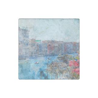 Imán De Piedra Barcos en el Gran Canal en Venecia Italia