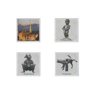 Imán De Piedra Bruselas y estatuas Pis