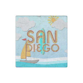 Imán De Piedra CAMISETA San Diego