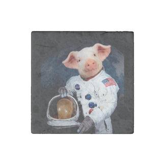 Imán De Piedra Cerdo del astronauta - astronauta del espacio