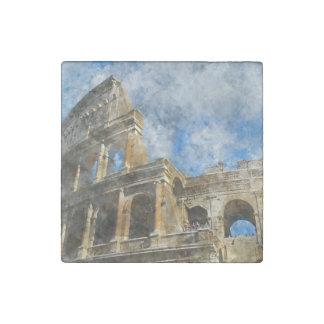 Imán De Piedra Colosseum en Roma antigua Italia