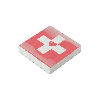 Imán De Piedra Corazón suizo