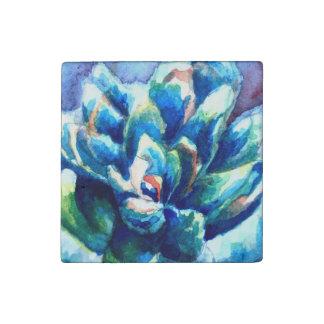 Imán de piedra de encargo con el Succulent de la