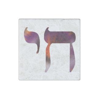 """Imán de piedra de """"vida"""" del símbolo de Chai"""