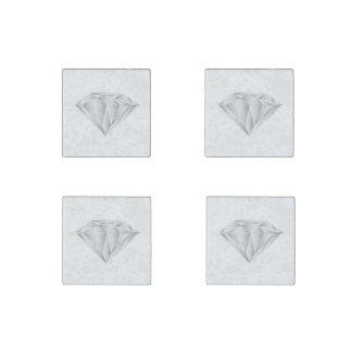 Imán De Piedra Diamante blanco para mi amor