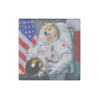 Imán De Piedra Dux perro-lindo del astronauta-dux-shibe-dux del