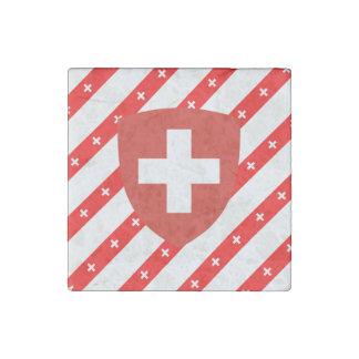 Imán De Piedra El suizo raya la bandera