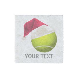 Imán De Piedra Gorra de Santa de la pelota de tenis del navidad