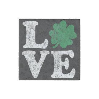 Imán De Piedra Irlandés del trébol del AMOR del día de St Patrick