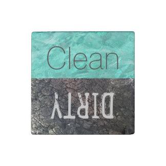 Imán De Piedra Limpie el lavaplatos sucio de los platos del |