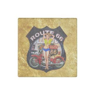 Imán De Piedra Motocicleta de la ruta 66 de América con una