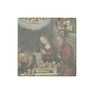 Imán De Piedra Pastores que adoran al bebé Jesús por Cranach
