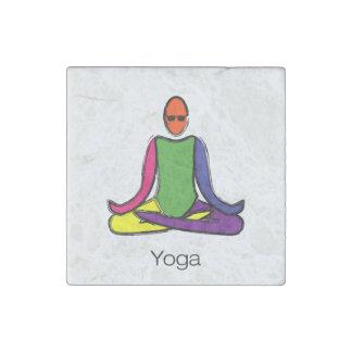 Imán De Piedra Pintura de la actitud de la yoga del loto con el