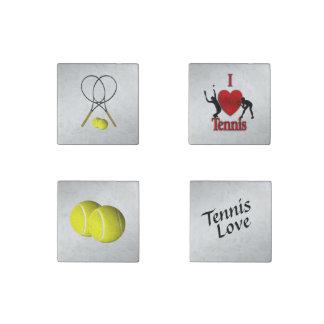 Imán De Piedra Tema del deporte del tenis cuatro