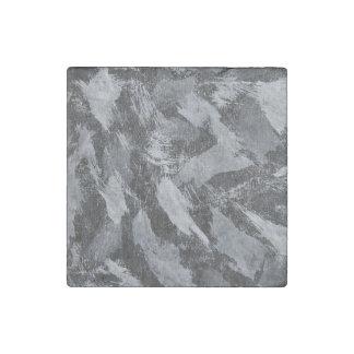 Imán De Piedra Tinta blanca en el fondo negro #3