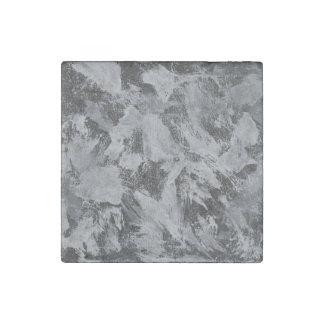 Imán De Piedra Tinta blanca en el fondo negro #5