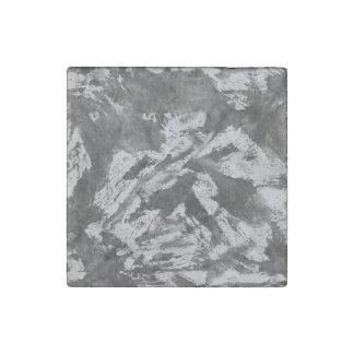 Imán De Piedra Tinta negra en el fondo blanco #2