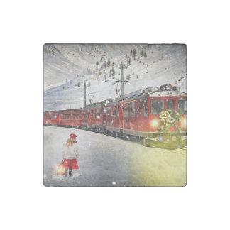 Imán De Piedra Tren expreso de santa del Polo Norte - el navidad