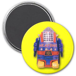 Imán de Sr. Atomic Toy Robot Round