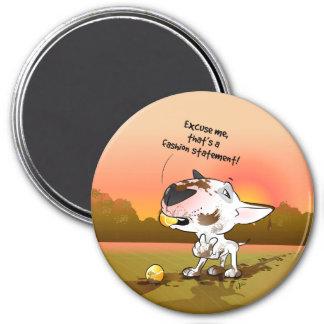 """Imán """"declaración del refrigerador de bull terrier"""