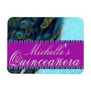 Imanes Cumpleanos Del Quinceanera Del Azul Real Decimo Quinto