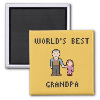 Imán del abuelo del mundo del pixel el mejor