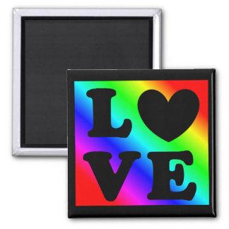 Imán del amor del corazón del arco iris LGBT