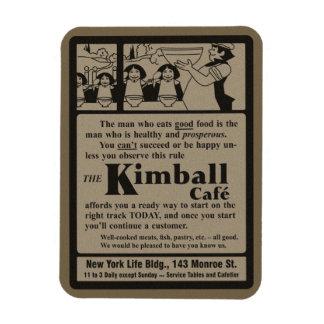 Imán del anuncio del café de Kimball de la histori
