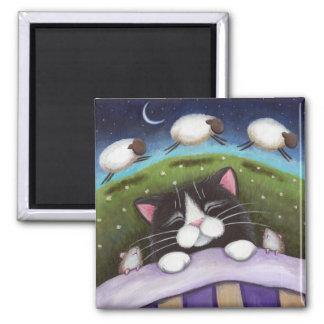 Imán Imán del arte del gato y del ratón de la fantasía