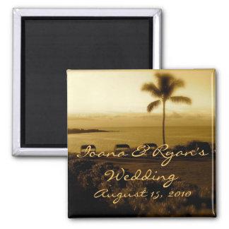Imán del boda de playa